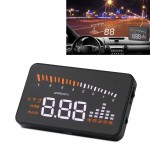 X5 3.5 inch Car OBDII / EUOBD HUD Vehicle-mounted Head Up Display Security System, Support Speed & Water Temperature & Speed Ala