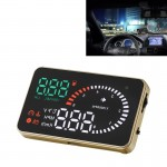 X6 3.5 inch Car OBDII / EUOBD HUD Vehicle-mounted Head Up Display Security System, Support Speed & Water Temperature & Speed Ala