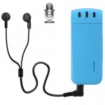 WR-16 Mini Professional 4GB Digital Voice Recorder with Belt Clip, Support WAV Recording Format(Blue)