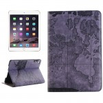 Map Pattern Horizontal Flip Smart Leather Case with Holder & Card Slots & Wallet for iPad Mini 4, Random Delivery(Grey)