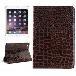 Crocodile Texture Horizontal Flip Smart Leather Case with Holder & Card Slots & Wallet for iPad Mini 4(Brown)