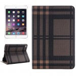 Grid Texture Horizontal Flip Smart Leather Case with Holder & Card Slots & Wallet for iPad Mini 4(Brown)