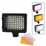 76 LED Video Light with Three Color Temperature Transparent Films (Tawny / White / Purple)