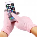 HAWEEL Three Fingers Touch Screen Gloves for Kids(Pink)