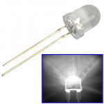 1000 PCS 8mm White Light Water Clear LED Lamp