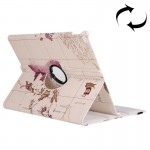 Map Pattern 360 Degrees Rotating Leather Case with Holder for iPad Pro 12.9 inch, Random Pattern Delivery