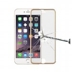 0.3mm 3D Curved Explosion-proof Colorized Tempered Glass Full Screen Film With Titanium Alloy Edge for iPhone 6 & 6s(Gold)