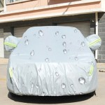 PEVA Anti-Dust Waterproof Sunproof Sedan Car Cover with Warning Strips, Fits Cars up to 4.9m(191 Inches) In Length