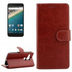 Crazy Horse Texture Horizontal Flip Leather Case with Holder & Card Slots & Wallet & Photo Frame for Google Nexus 5X(Brown)