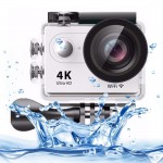 H9 4K Ultra HD1080P 12MP 2 inch LCD Screen WiFi Sports Camera, 170 Degrees Wide Angle Lens, 30m Waterproof(White)