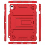 Full Coverage Silicone Shockproof Case for iPad Pro 11 inch (2018), with Adjustable Holder (Red)