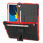 Tire Texture TPU+PC Shockproof Case for iPad Pro 11 inch (2018), with Holder & Pen Slot (Red)