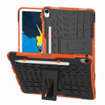 Tire Texture TPU+PC Shockproof Case for iPad Pro 11 inch (2018), with Holder & Pen Slot (Orange)