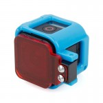 TMC Low-profile Frame Mount with Filter for GoPro HERO4 Session(Blue)