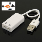 7.1 Channel USB Sound Adapter(White)