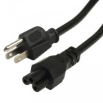 High Quality 3 Prong Style US Notebook AC Power Cord, Length: 1.8m