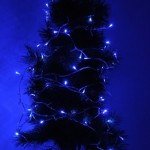 30m 300 LED Blue Light Waterproof IP44 String Decoration Light with 8 Functions Controller for Christmas Party, 220-240V, EU Plu