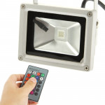 10W High Power Waterproof RGB LED Floodlight Lamp with Remote Control, AC 85-265V