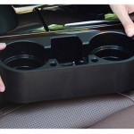 Car Auto ABS Multi-functional Seat Organizer Storage Holder for Drink Beverage Phone