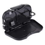 Folding Car Auto Back Seat Table Drink Food Cup Tray Holder Stand Desk(Black)