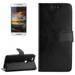Crazy Horse Texture Horizontal Flip Leather Case with Holder & Card Slots & Wallet & Photo Frame for Google Nexus 6P(Black)