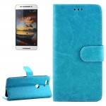 Crazy Horse Texture Horizontal Flip Leather Case with Holder & Card Slots & Wallet & Photo Frame for Google Nexus 6P(Blue)