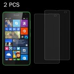 2 PCS for Microsoft Lumia 535 0.26mm 9H Surface Hardness 2.5D Explosion-proof Tempered Glass Screen Film