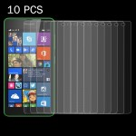 10 PCS for Microsoft Lumia 535 0.26mm 9H Surface Hardness 2.5D Explosion-proof Tempered Glass Screen Film