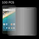 100 PCS for Google Nexus 5X 0.26mm 9H Surface Hardness 2.5D Explosion-proof Tempered Glass Screen Film