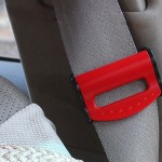 2 PCS SHUNWEI Car Safety Seat Belt Adjuster(Red)