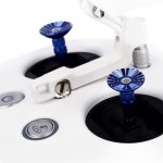 CNC Aluminum Alloy Controller Rocker Thumb Stick for DJI Phantom 3 Inspire 1(Blue)