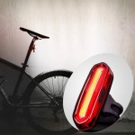 AQY-096 IPX4 Detachable USB Rechargeable Single Color LED Bike Taillight (White)