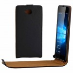 For Microsoft Lumia 650 Vertical Flip Leather Case Waist Bag with Magnetic Buckle(Black)