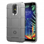 Shockproof Rugged Shield Full Coverage Protective Silicone Case for LG K40 (Grey)