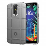 Shockproof Rugged Shield Full Coverage Protective Silicone Case for LG K12+ (Grey)