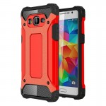 Coque renforcée Samsung Galaxy Grand-Prime / G530 Armure robuste TPU + Combinaison PC Case Rouge - wewoo.fr