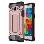 Coque renforcée Samsung Galaxy Grand-Prime / G530 Armure robuste TPU + Combinaison PC Case or rose - wewoo.fr