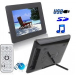 8 inch Digital Picture Frame with Remote Control Support SD / MMC / MS Card and USB (8006B)(Black)