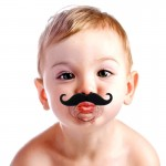 Funny Infant Mustache Baby Appease Nipple
