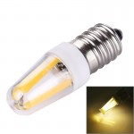 E14 2W PC Material Dimmable 4 LED Filament Light Bulb for Halls, AC 220-240V(Warm White)