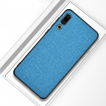 Shockproof Cloth Texture PC+ TPU Protective Case for Meizu 16s (Blue)