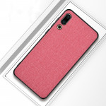 Shockproof Cloth Texture PC+ TPU Protective Case for Meizu 16s (Pink)