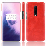 Shockproof Litchi Texture PC + PU Case for OnePlus 7 Pro(Red)