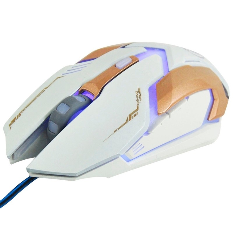 96a2795c5a8 iMICE V6 LED Colorful Light USB 6 Buttons 3200 DPI Wired Optical Gaming  Mouse for Computer PC Laptop(White)
