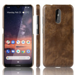 Shockproof Litchi Texture PC + PU Case For Nokia 3.2(Brown)