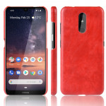 Shockproof Litchi Texture PC + PU Case For Nokia 3.2(Red)