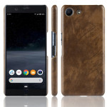 Shockproof Litchi Texture PC + PU Case For Sony Xperia ACE SO-02L(Brown)