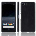 Shockproof Litchi Texture PC + PU Case For Sony Xperia ACE SO-02L(Black)