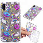 Painted TPU Protective Case For Galaxy S10 Plus(Cake Horse Pattern)