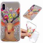 Painted TPU Protective Case For Galaxy S10 Plus(Flower Deer)